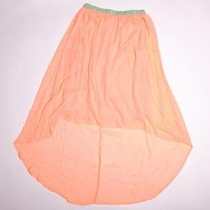 Dresses & Skirts - Peach chiffon high low skirt